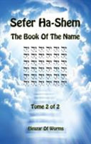Sefer Ha Shem The Book Of The Name Tome 2 Of 2