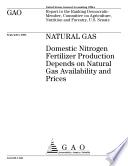 Natural gas domestic nitrogen fertilizer production depends on natural gas availability and prices