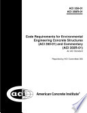 Code Requirements For Environmental Engineering Concrete Structures Book PDF