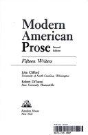 Modern American Prose
