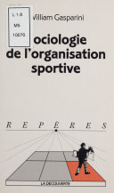 Pdf Sociologie de l'organisation sportive Telecharger