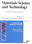 Materials Science and Technology, Constitution and Properties of Steels