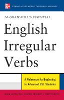 McGraw-Hill's Essential English Irregular Verbs Pdf/ePub eBook