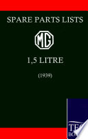Spare Parts Lists For The Mg 1 1 2 Litre 1939  Book PDF