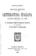 Letteratura italiana dalle origini al 1748