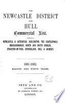 The Newcastle district and Hull commercial list [afterw.] The Newcastle & Hull district commercial list