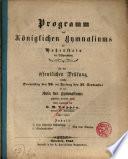 Programm des Königlichen Gymnasiums zu Hohenstein in Ostpreussen. Ladet ergebenst ein Dr. M. Toeppen