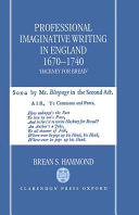 Professional Imaginative Writing in England, 1670-1740