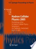 Hadron Collider Physics 2005 Book PDF