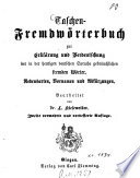 Taschen-Fremdwörterbuch zur Erklärung und Verdeutschung der in der heutigen deutschen Sprache gebräuchlichen fremden Wörter, Redensarten, Vornamen und Abkürzungen