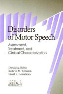 Disorders of Motor Speech Book PDF