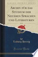 Archiv Für Das Studium Der Neueren Sprachen Und Literaturen, Vol. 9 (Classic Reprint)