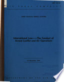 International Law  the Conduct of Armed Conflict and Air Operations