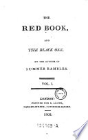 The Red Book and the Black One  By the Author of Summer Rambles Book
