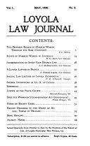Loyola Law Journal