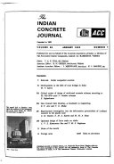 The Indian Concrete Journal