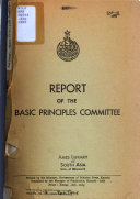 Report Of The Basic Principles Committee