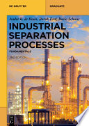 Industrial Separation Processes Book