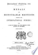 Medals and Honourable Mentions Awarded by the International Juries