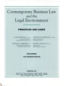 Contemporary Business Law and the Legal Environment
