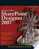 Microsoft Office Sharepoint Designer 2007 Bible Book PDF