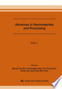 Advances In Nanomaterials And Processing Book PDF