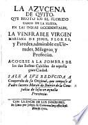 La Azucena De Quito Mariana De Jesus Flores Y Paredes A Biography Sale Luz Reducida Compendio De Su Original Etc Edited By M Guerrero De Salazar
