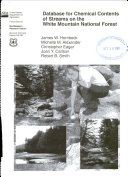 Database for Chemical Contents of Streams on the White Mountain National Forest