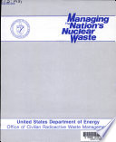 Managing The Nation S Nuclear Waste Book PDF