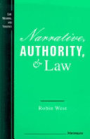 Narrative, Authority, and Law ebook