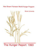 The Hunger Report 1993 Book