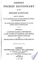 Johnsons Pocket Dictionary Of The English Language