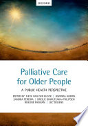 Palliative care for older people Book