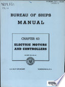 Bureau of Ships Manual  Electric motors and controllers  1947  1958