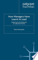 How Managers Have Learnt to Lead