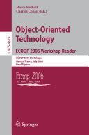 Object Oriented Technology ECOOP 2006 Workshop Reader