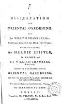 A Dissertation on Oriental Gardening