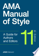 Ama Manual Of Style Book PDF
