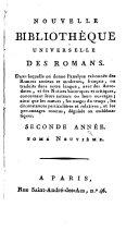 Nouvelle bibliothèque des romans