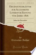 Ergänzungsblätter zur Allgemeine Literatur-Zeitung vom Jahre 1806, Vol. 2