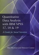 Quantitative Data Analysis with IBM SPSS 17  18 and 19