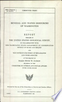 Mineral and Water Resources of Washington