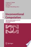 Unconventional Computation Book