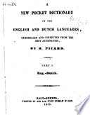 A New Pocket Dictionary of the English and Dutch Languages