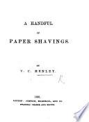 A handful of paper shavings
