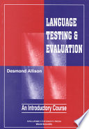 Language Testing And Evaluation