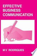 Effective Business Communication Book PDF