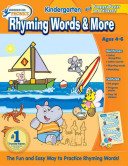 Hooked on Phonics Kindergarten Rhyming Words   More Workbook Book