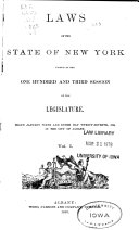 Pdf Laws of the State of New York