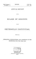 Pdf Annual Report of the Board of Regents of the Smithsonian Institution, Showing the Operations, Expenditures, and Conditions of the Institution for the Year ....